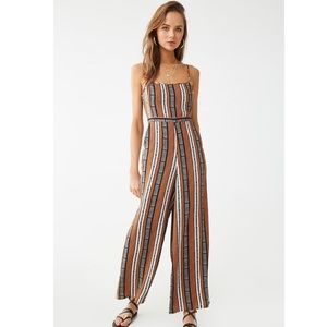 Forever 21 Striped Jumpsuit NWT